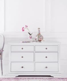 English Heritage 6 drawer chest -  soft white